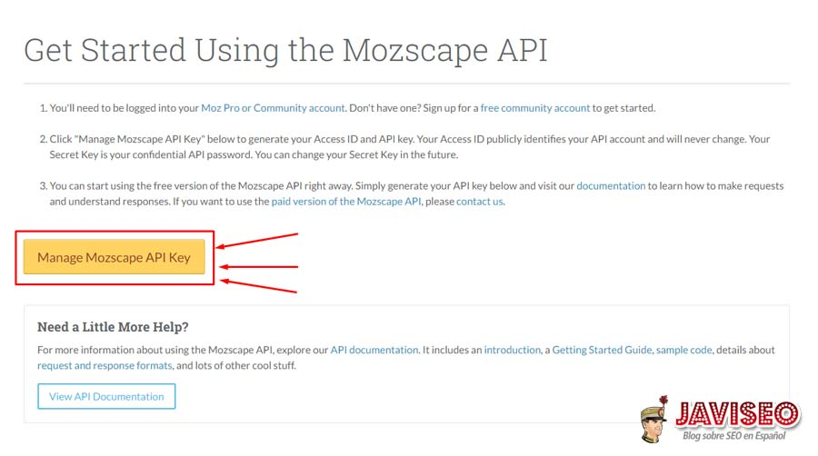 Moz API Key