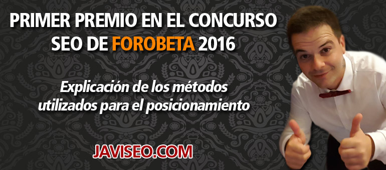 Primer premio concurso Forobeta 2016